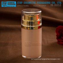 ZB-BN50 50ml round 1st grade pmma eco-friendly luxury lotion pump 50ml acrylic airless bottles