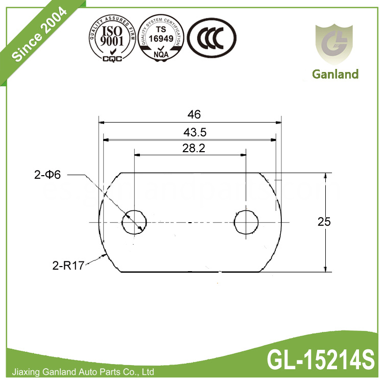 Buckle and Roller attachment plate GL-15214SYC