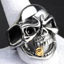 Hip Hop Cigar Skull Rings for Party