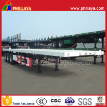 Mechanical Suspension 40FT Container Transport Flatbed 60t Trailer