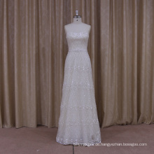 Luxus Perlen A-Linie Brautkleid mit abnehmbaren Trian