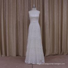 Vestido de novia con cuentas de lujo con Trian desmontable