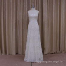 Luxury Beaded A-Line Wedding Dress with Detachable Trian