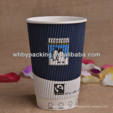 Logotipo personalizado Impreso Ripple Wall Cup