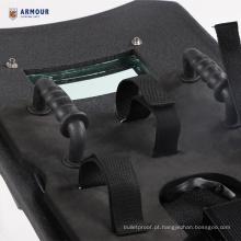 Escudo à prova de balas balístico à prova de balas inquebrável da prova da bala do kevlar do PE com a janela de vidro balística