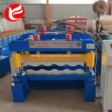 Roof panel hydraulic glazed tile roll forming machine