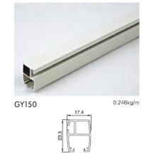 Carril de aluminio para puertas corredizas