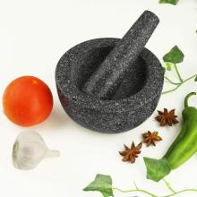 Ferramentas de moedor de pimenta de almofariz e pilão de mármore