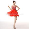 Grosso chiffon elegante vermelho senhora vestido de noiva vestido de noite formal