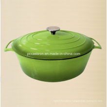 Oval Enamel Cast Iron Saucepan Manufacture From China