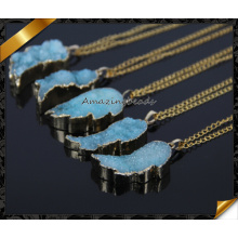 Natürliche Druzy Halskette, Gold Druzy Halskette, kleine Druzy Halskette, Gold Druzy Schmuck (CN012)