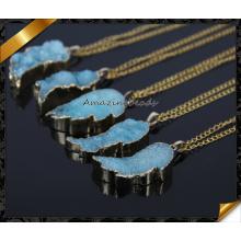 Естественное друзиее ожерелье, ожерелье золота Druzy, малый ожерелье Druzy, ювелирные изделия золота Druzy (CN012)