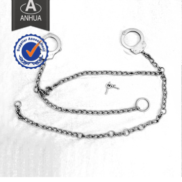 Police Carbon Steel Handcuff with Long Chain