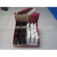 plumas chocolate