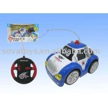 Brinquedo do carro do rc dos desenhos animados da polícia