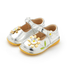 Sliver Baby Girl Shoes Spring Autumn 1-3y Toddler Shoes