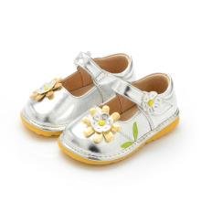 Sliver Baby Girl Shoes Весенняя осень 1-3y Обувь для малышей
