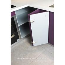 Armario de cocina moderno de la laca brillante de color púrpura italiano moderno