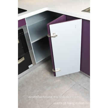 Gabinete de cozinha moderno moderno lacado brilhante de laca
