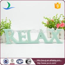 Dünnere RELAX Form Emaille Zeichen für die Dekoration