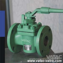 Cast Steel RF Flanged Lubricated Plug Valve