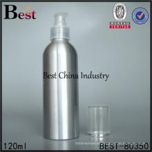 botella de aerosol de bomba de niebla de agua de aluminio