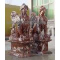 Tallada de mármol estatua de piedra tallada escultura para la decoración del jardín (sy-x1059)