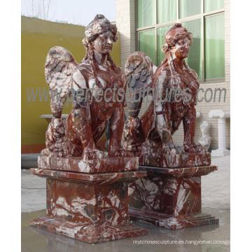Tallando la estatua del mármol de la escultura del jardín de la escultura (SY-X1777)