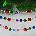 Colorful Bulbs and Beads Decorated Garland for Easter