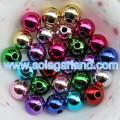 8-20MM Acrylic Round Shiny Metallic Finised Beads Spacer Chunky Bubblegum Beads