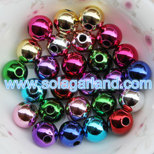 8-20MM acrylique brillant métallique terminé Perles Spacer Chunky Bubblegum perle ronde