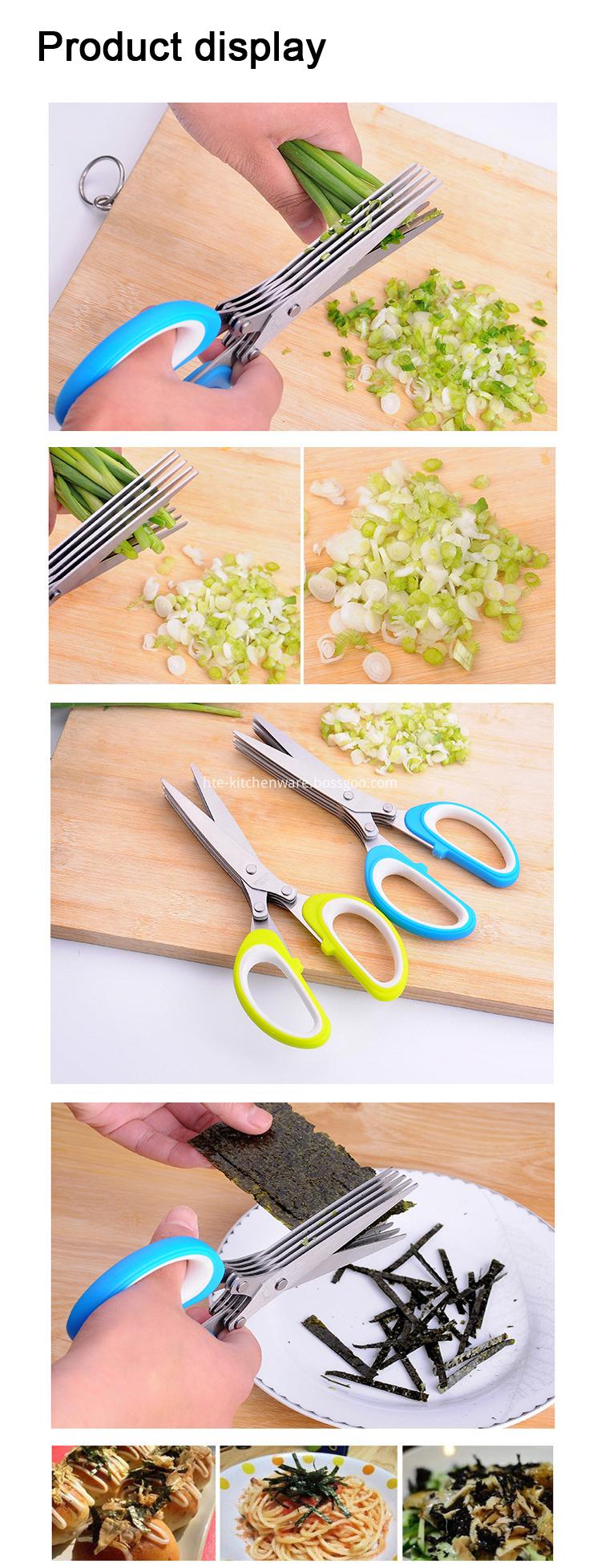kitchen scissors with brush