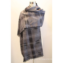 Lady Fashion Viskose gewebt Jacquard Fransen Schal (YKY4412-1)