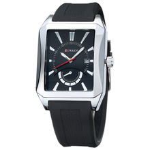 curren rectangle quartz watch business wristwatch for business men