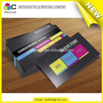 Custom shape letterpress paper create visiting card