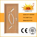Горячие продажи интерьер ПВХ МДФ стеклянные деревянные двери ванной комнаты (СК-П161)