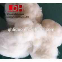 Fibra de lana de oveja blanca micron fina china