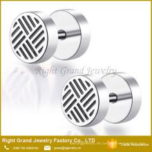 Silber Farbe 316L chirurgischer Edelstahl Emaille Gefälschte Ohrstecker