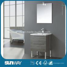 El armario europeo más nuevo del cuarto de baño de la melamina con el espejo