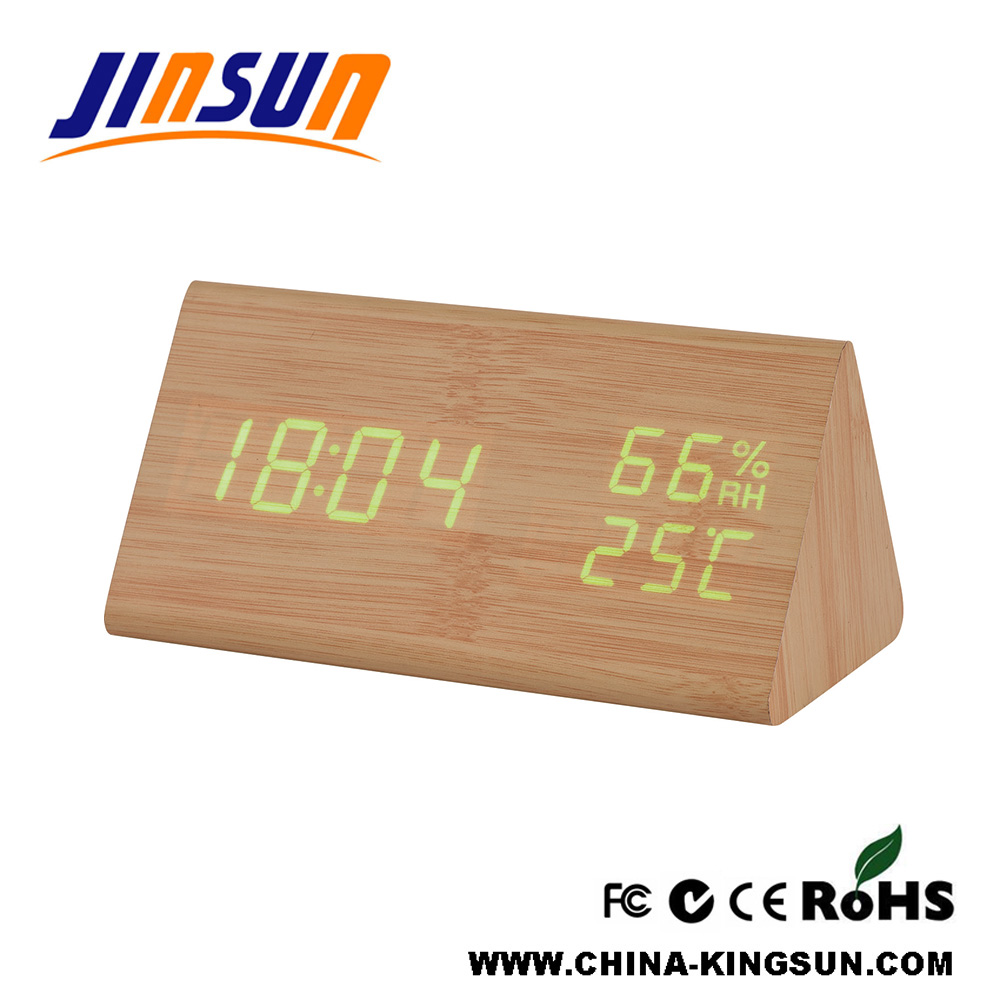 Clock With Humidity And Temperature