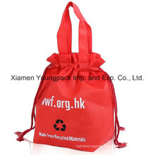 Custom Reusable Non-Woven Drawstring Tote Shopping Bag for Promotion