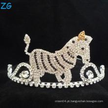 Encantador cavalo coloridos Rhinestone Tiara Miúdos Tiara