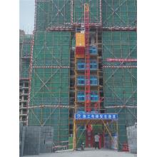 Elevador duplo da grua da construção da gaiola SC200 / 200 de 2t único