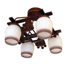 Lâmpada de teto moderna de madeira 4 iluminação