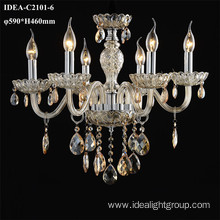glass candle lamps chandelier modern light fixture
