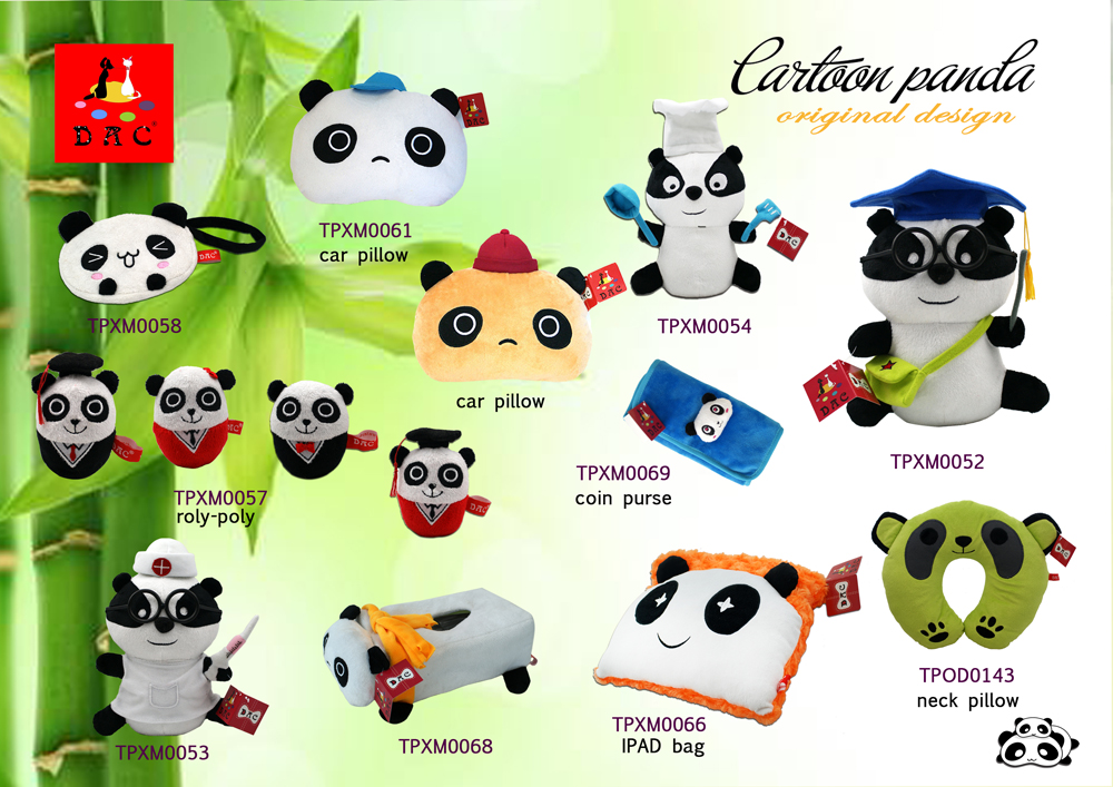 plush cartoon panda