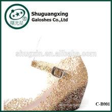 Студент спящего леса обувь водонепроницаемая дождь сапоги с желе кристалл мило дождя сапоги для продажи C-B001