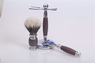 badger shaving brush set