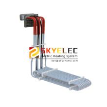 Нагревательные элементы по спирали над боковым однофазным нагревателем