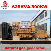 Energy saving Reliable quality natural gas generator set 500kw by advanced technology